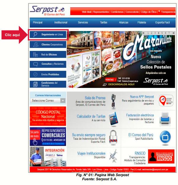 Serpost El Correo de Perú > Envíos | Rastreo de Guías | Oficinas y ...